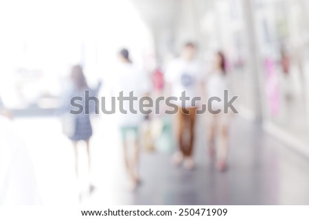 busy city pedestrian people crowd on street road abstract , - stock photo