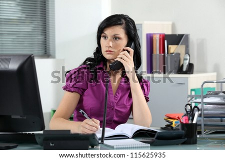 Busy receptionist