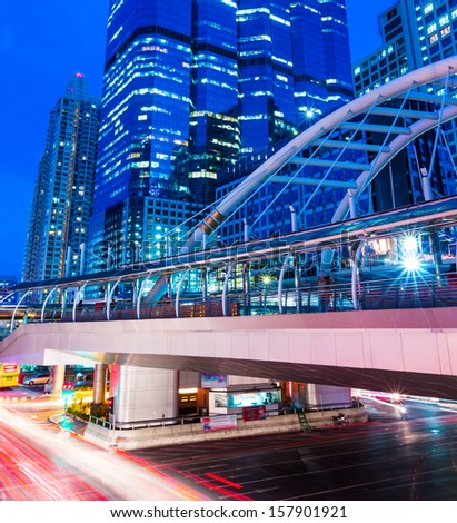 Busy traffic in Bangkok - stock photo