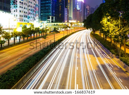 Busy traffic in Hong Kong