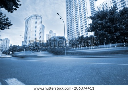 busy traffic in the modern city - stock photo