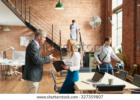 Busy Trendy Office Business People Achieving Stock Photo 327359807