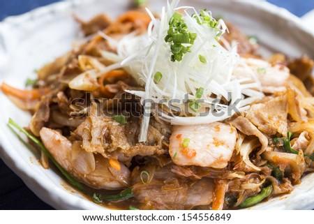 Buta Kimchi Food - stock photo