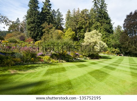 Butchart Gardens at Victoria B.C, Canada. - stock photo