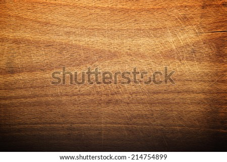 Butcher cutting plate and chopping wooden board as background. Wood texture. - stock photo