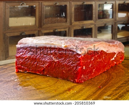 butcher meat - stock photo