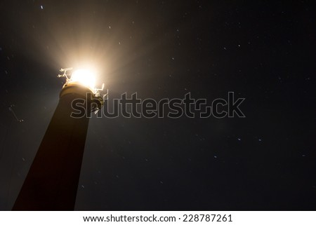 Butt of Lewis Lighthouse, outer Hebrides, Scotland - stock photo
