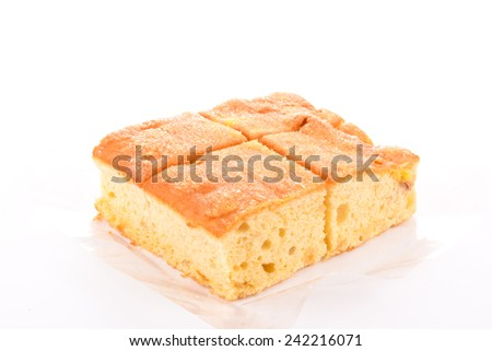 Butter and sugar cake