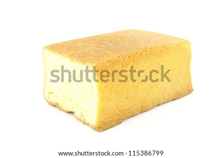 Butter cake on a white background - stock photo