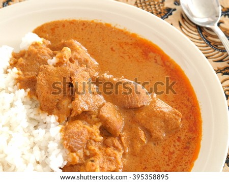 butter chicken curry - stock photo