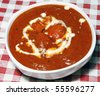 butter chicken in bowl - stock photo