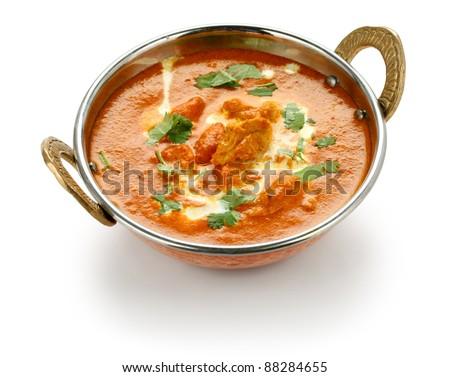 butter chicken , indian cuisine - stock photo