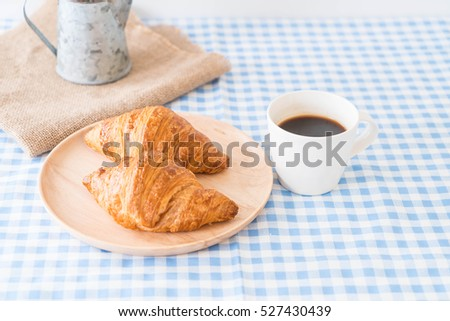 butter croissant on the table