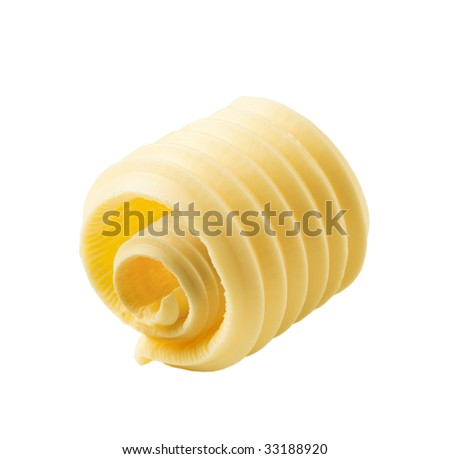 butter curl - stock photo
