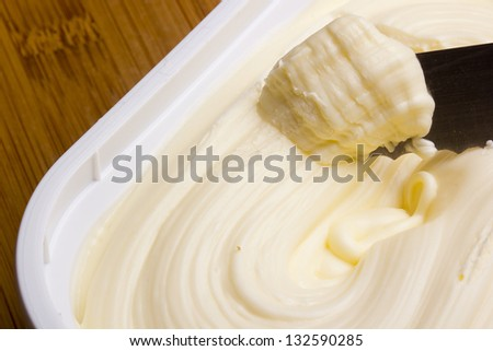 Butter for breakfast from canola low calorie. - stock photo