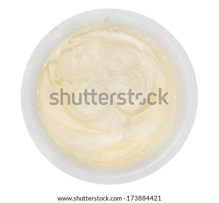 butter in plate - stock photo