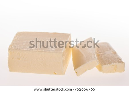 butter isolated on white background