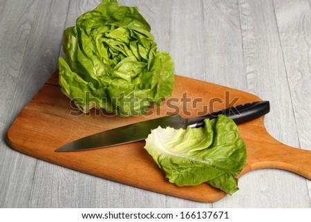 Butter Lettuce - stock photo