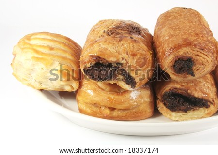 Butter Pastries Variety Isolated on a White Background
