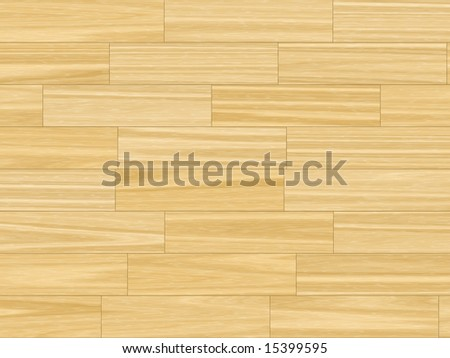 butter yellow parquet flooring - close up - stock photo
