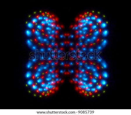 Butterfly (abstraction) - stock photo