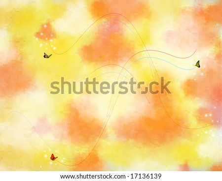 Butterfly Background - stock photo