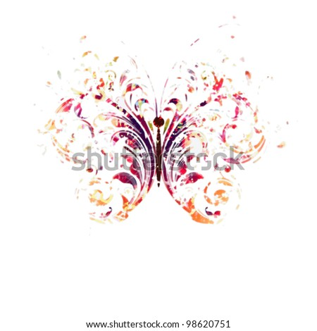 Butterfly - Blur of color - stock photo