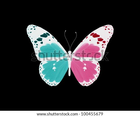 Butterfly, concept of love and relations - stock photo