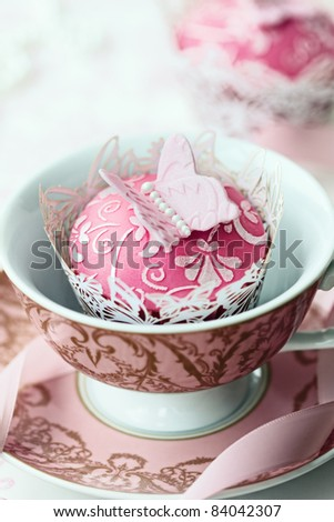 Butterfly cupcake - stock photo
