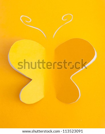 Butterfly origami - stock photo