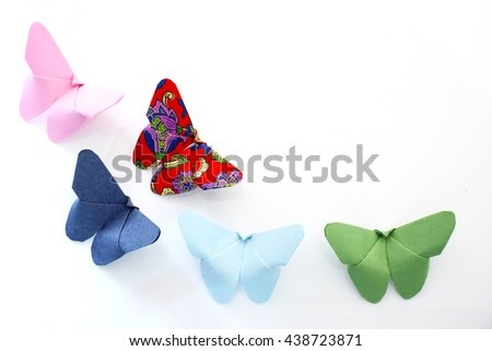 Butterfly paper - stock photo