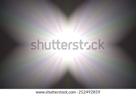 butterfly spotlight to highlight your message - stock photo