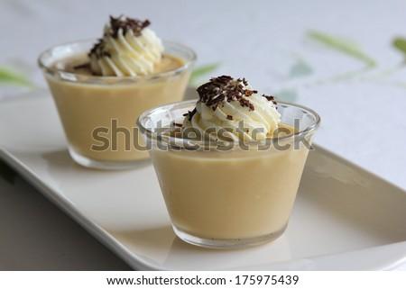 Butterscotch pudding - stock photo