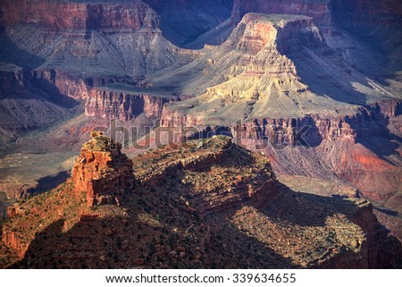 Buttes in Grand Canyon National Park
