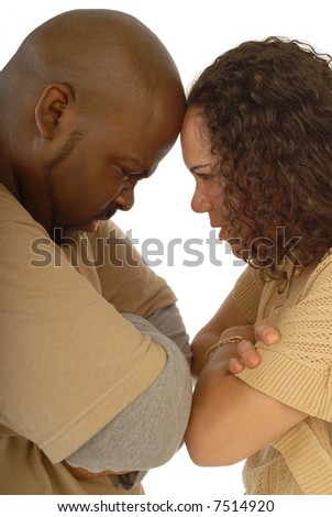 Butting heads - stock photo