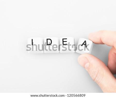 button business idea on white background - stock photo