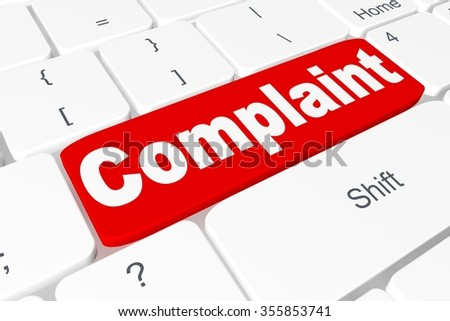 """Button """"Complaint"""" on keyboard - stock photo"""
