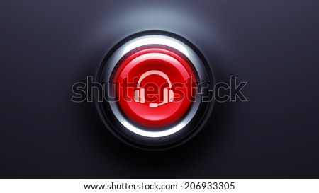 Button Contact Icon isolated on black
