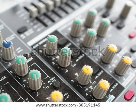 Button control sound mixer