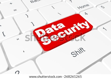 "Button ""Data Security"" on keyboard - stock photo"