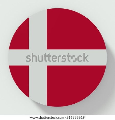 button flat design with denmark flag