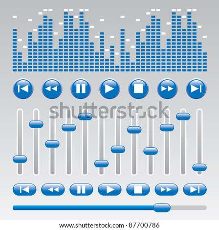 button for music software - stock photo