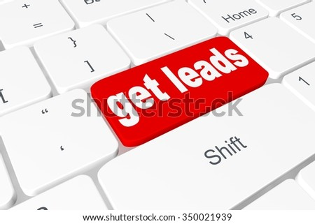 "Button ""get leads"" on keyboard"