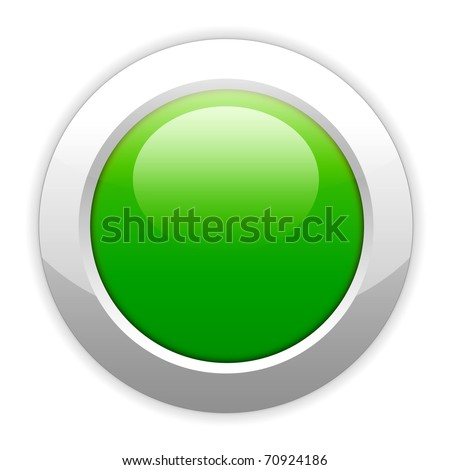 button, glowing, green, isolated, over white, clickable, computer, website, web, internet, electronic, element, glow, round, background, empty, click - stock photo