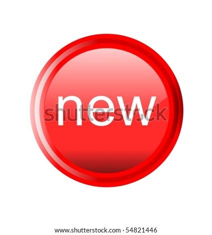 button new - stock photo