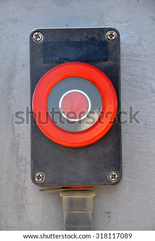 Button of Emergency Shut Down System - stock photo