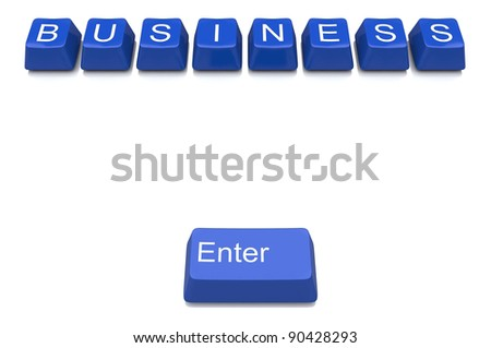 Button on computer keyboard showing business concept
