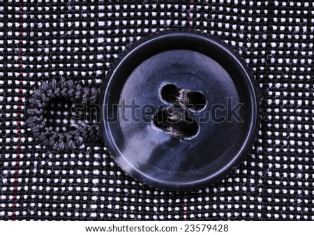 button on the business suit - stock photo