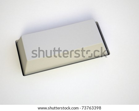 button on white background. 3d render. - stock photo