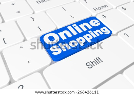 "Button ""online shopping"" on keyboard"